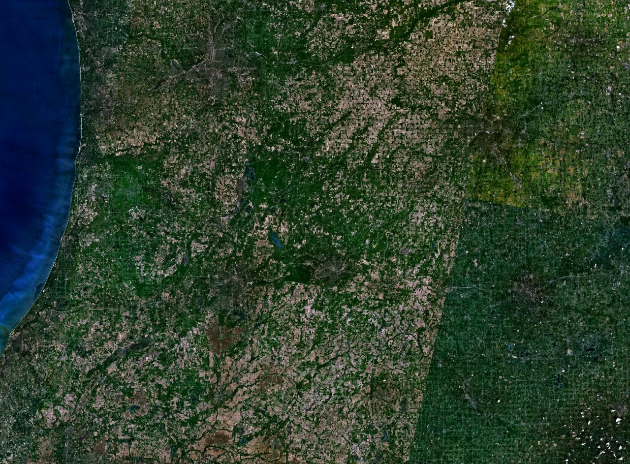 SW Michigan Landsat visible color image