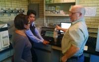 KBS LTER researcher Kevin Kahmark describes greenhouse gas analysis to collegues at CIMMY ((Centro Internacional de Mejoramiento de Maíz y Trigo). T