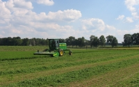 Alfalfa harvest on the KBS LTER Main Cropping System Experiment; Photo Credit: J.E.Doll, Michigan State University