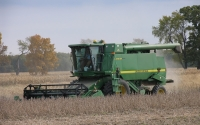 Soybean harvest on the KBS LTER Main Cropping System Experiment; Photo Credit: J.E.Doll, Michigan State University