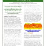 New fact sheet – Climate Basics