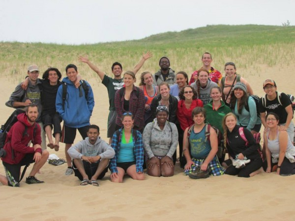 The wonderful undergraduate scientists of KBS Summer 2013. This photo is from a camping trip we took to Nordhouse and Sleeping Bear dunes, which was a highlight for a lot of us. (Photo credit: Becca Blundell)