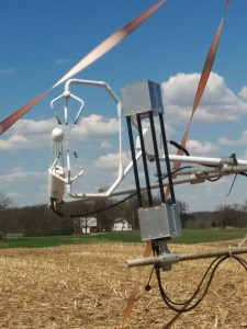 Eddy-covariance towers are used to measure nitrous oxide and carbon dioxide levels.