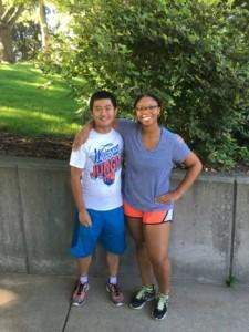 Aleah and her mentor Di.