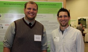 Andrew and his mentor, Dr. Adam Reimer at the Research Experience for Undergraduates student symposium.