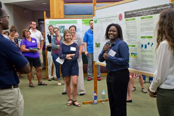 Presenting at the KBS Undergraduate Research Symposium.