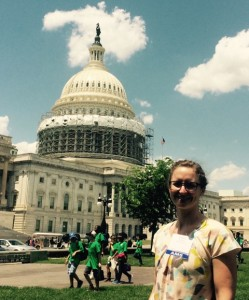 Bonnie McGill, in Washington DC for the American Meteorological Society's Summer Policy Colloquium