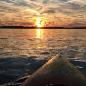 Sunset while kayacking on Gull Lake.