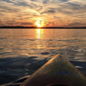 Sunset while kayacking on Gull Lake.
